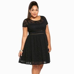 Torrid • Lace Scoop Skater Dress